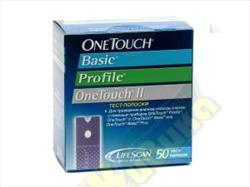 One touch basic plus тест-полоска д/опр.глюк. n50